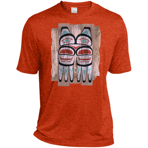 Screeching Owl, Painted Heather Dri-Fit Moisture-Wicking T-Shirt - Indigenous Arts