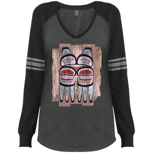 Screeching Owl, Painted Game LS V-Neck T-Shirt