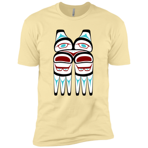 Screeching Owl, Traditional Premium Short Sleeve T-Shirt - Indigenous Arts