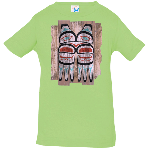 Screeching Owl, Painted Infant Jersey T-Shirt - Indigenous Arts
