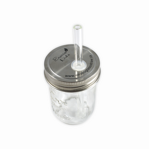 Enviro Lid Bundle - includes Glass Straw and a Cleaning Brush