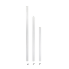 Load image into Gallery viewer, Family Pack - 4 Smoothie Glass Straws with a Cleaning Brush (12 mm Diameter)
