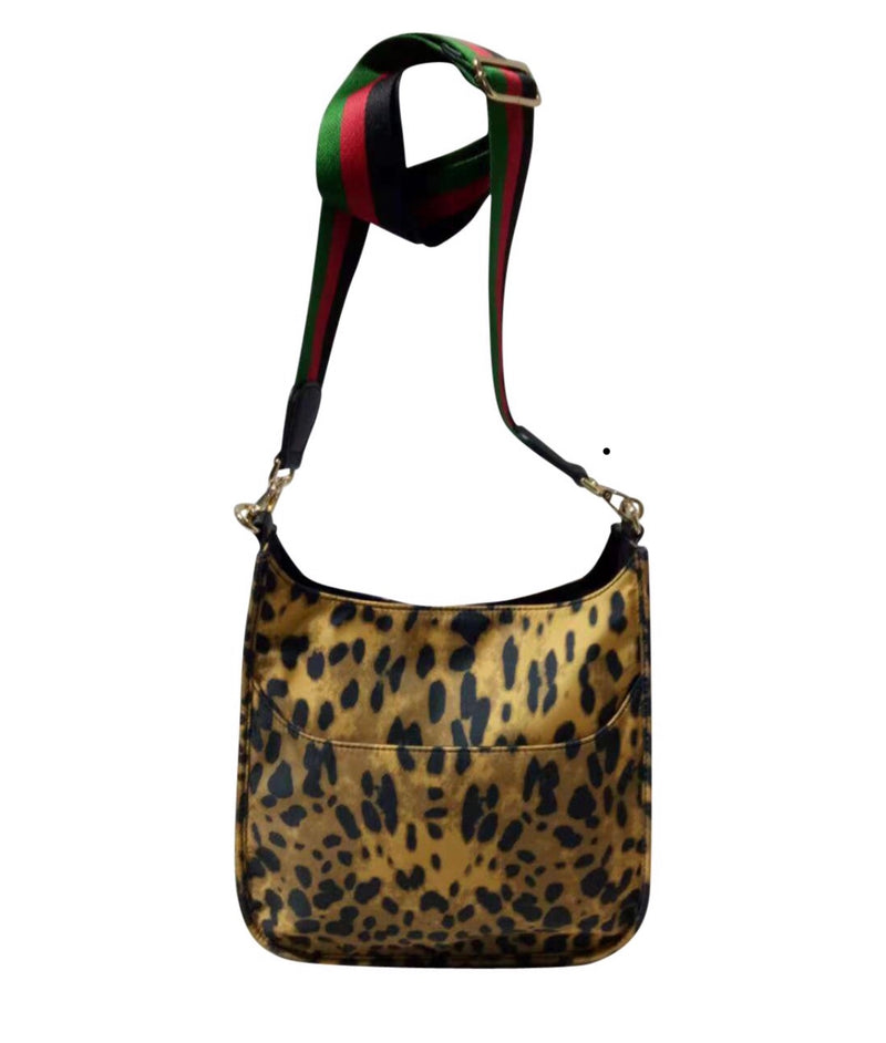 Nylon Leopard Messenger Bag