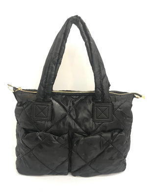 Puffy Double Pocket Tote