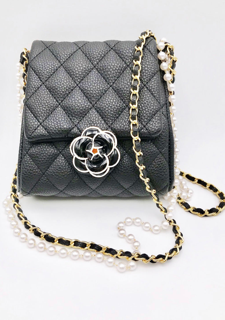 Quilted Flower Crossbody