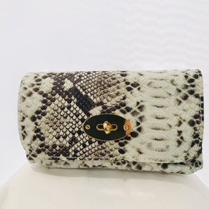 Embossed Small Leather Bag/Clutch