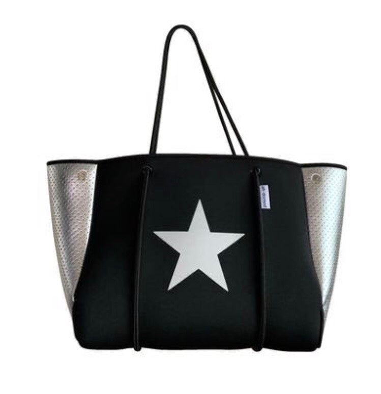 Black Neoprene With Silver Star