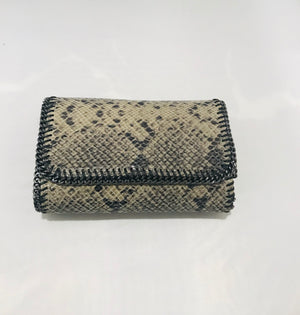 Embossed Skin Leather Bag/Clutch