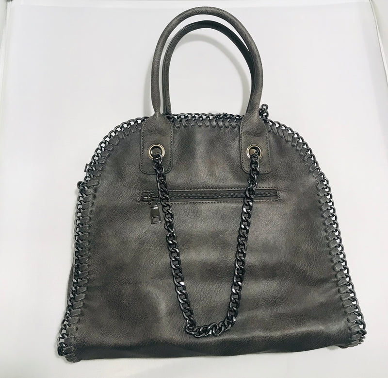Vegan Leather Chain Bag