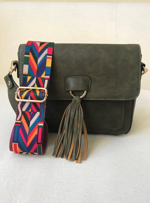 Vegan Leather Tassel Bag