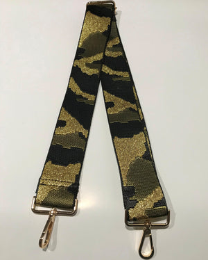 Adjustable Gold Camo Metallic Strap