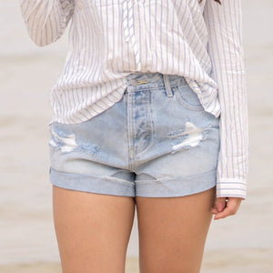 Hermosa High-Waisted Shorts