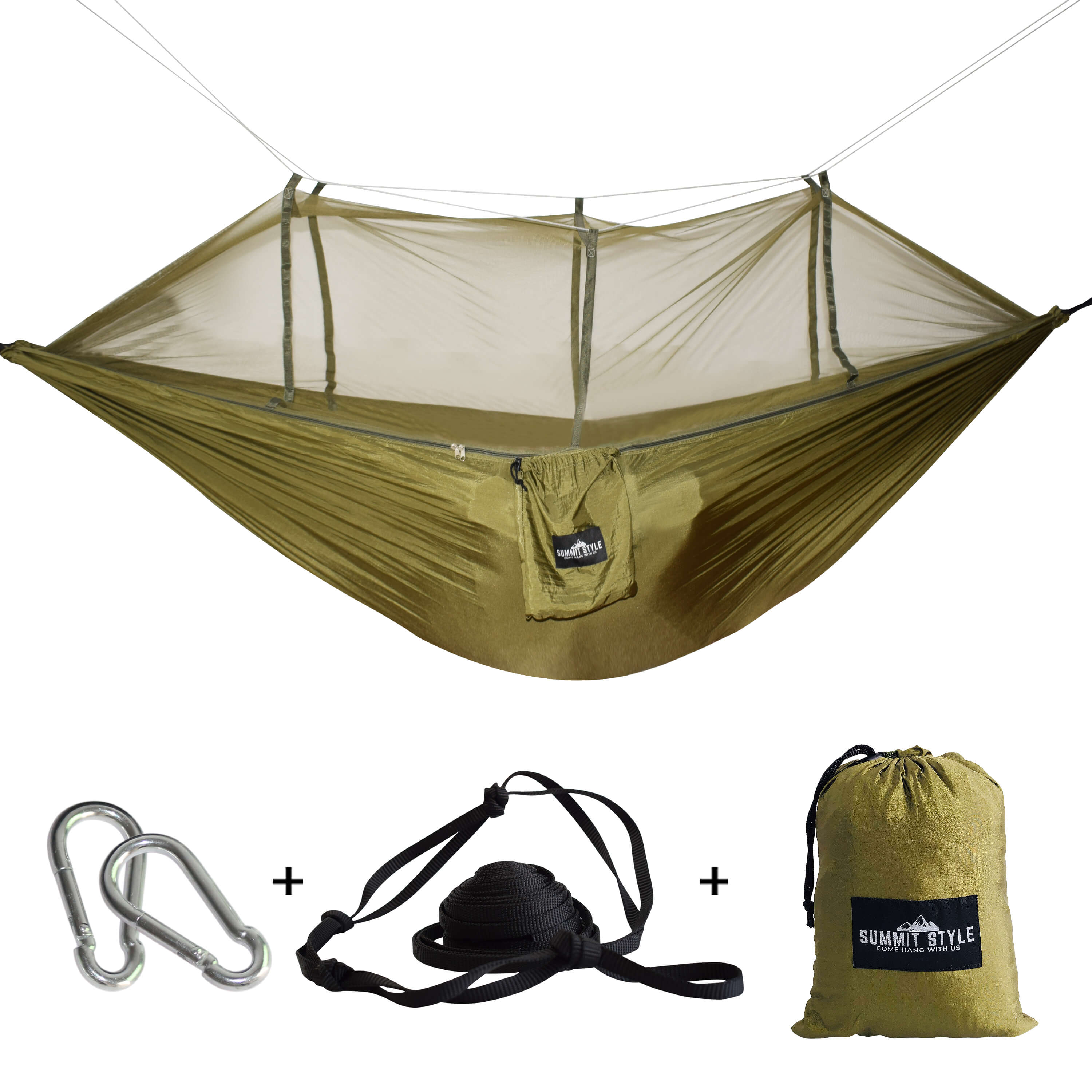 Summit Style's Nature Nest Hammock with Mosquito Net: Dark Green