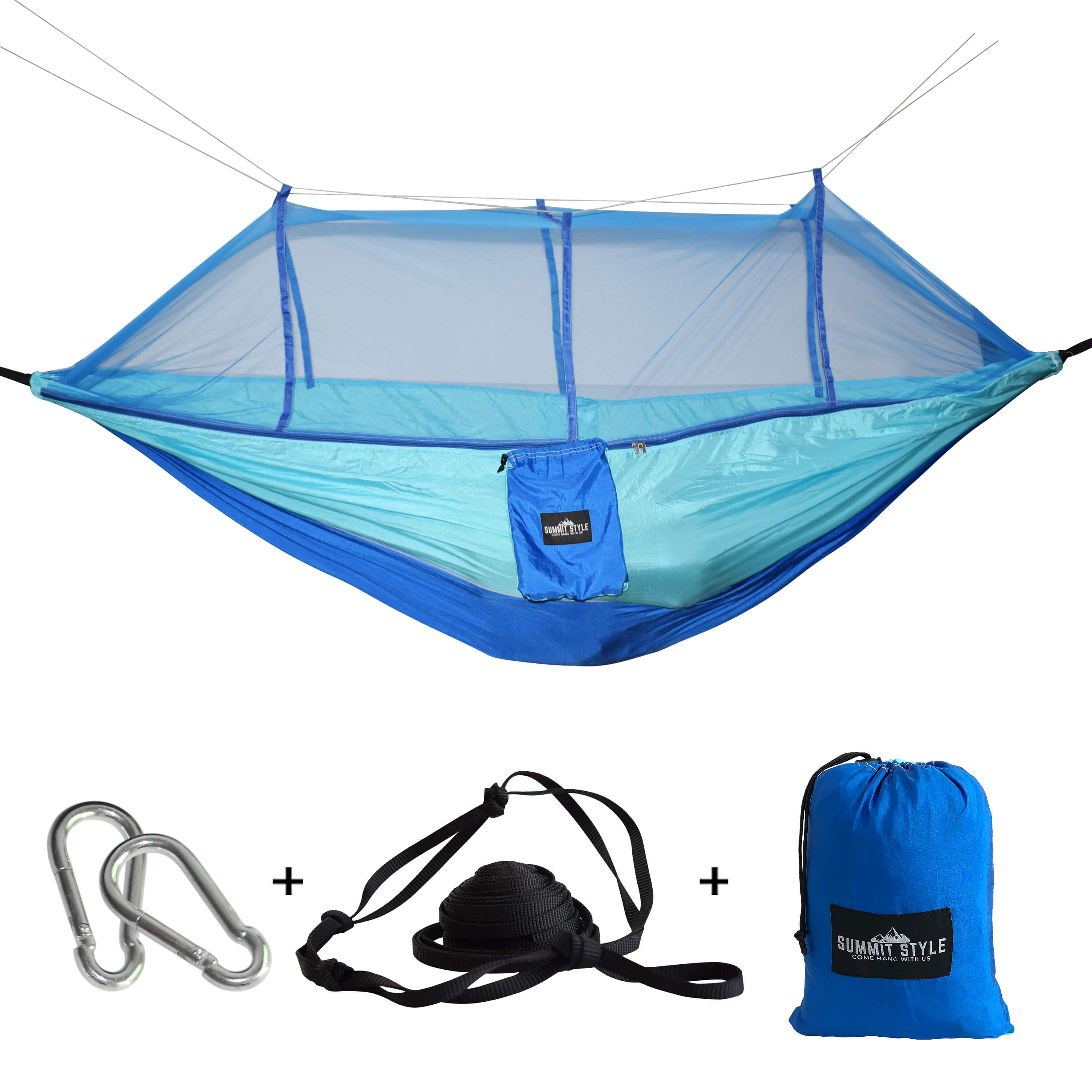 Summit Style's Nature Nest Hammock with Mosquito Net: Light Blue