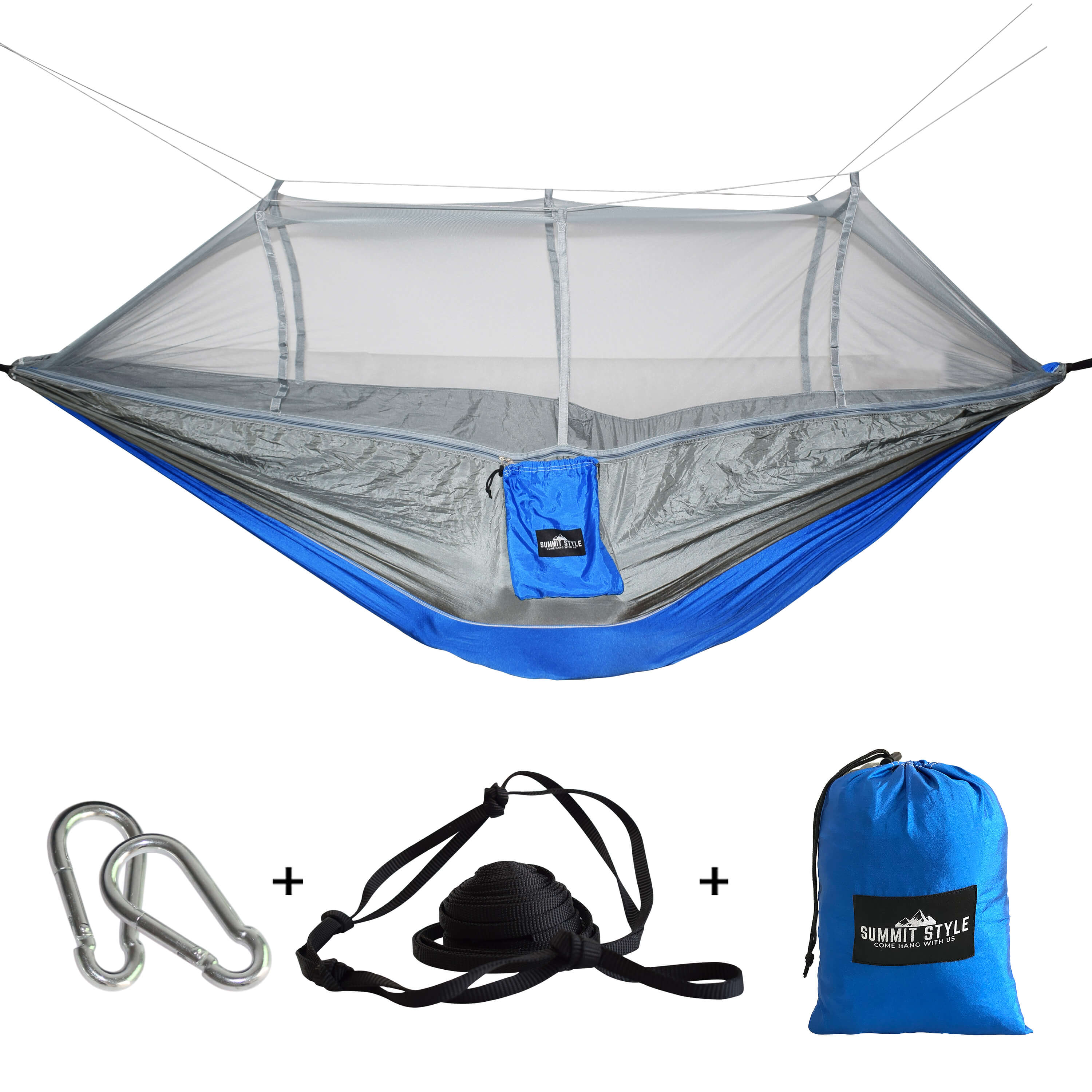 Summit Style's Nature Nest Hammock with Mosquito Net: Blue