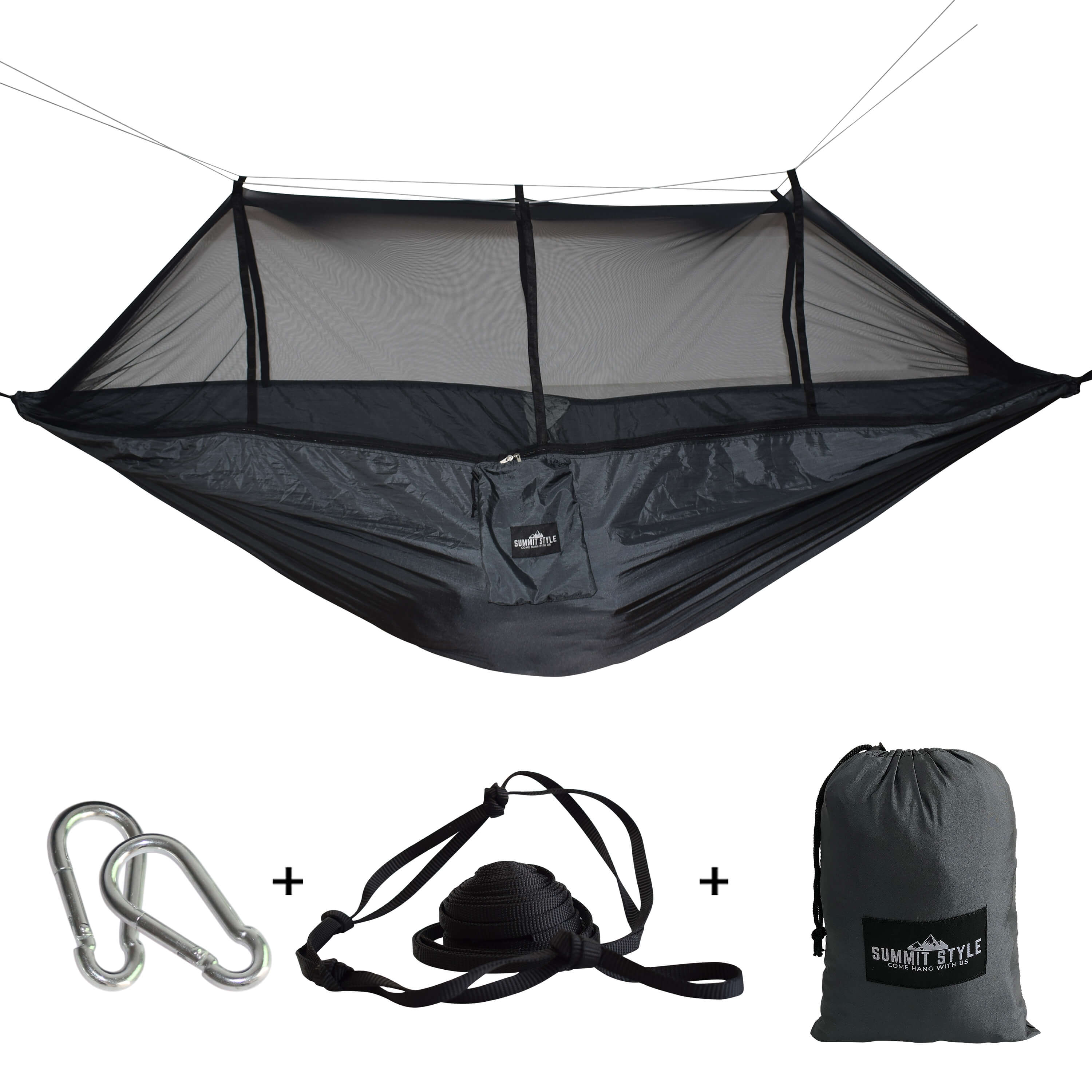 Summit Style's Nature Nest Hammock with Mosquito Net: Black