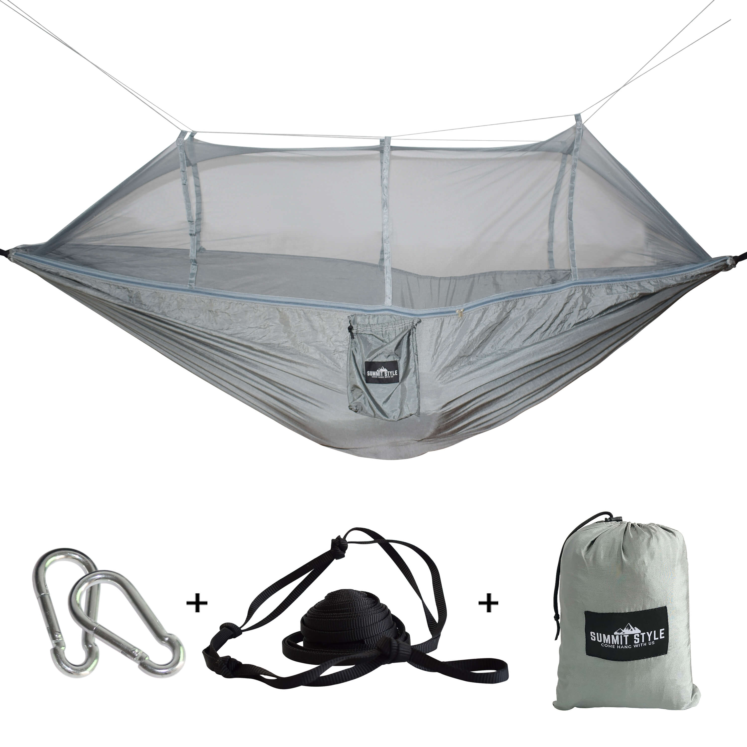 Summit Style's Nature Nest Hammock with Mosquito Net: Grey