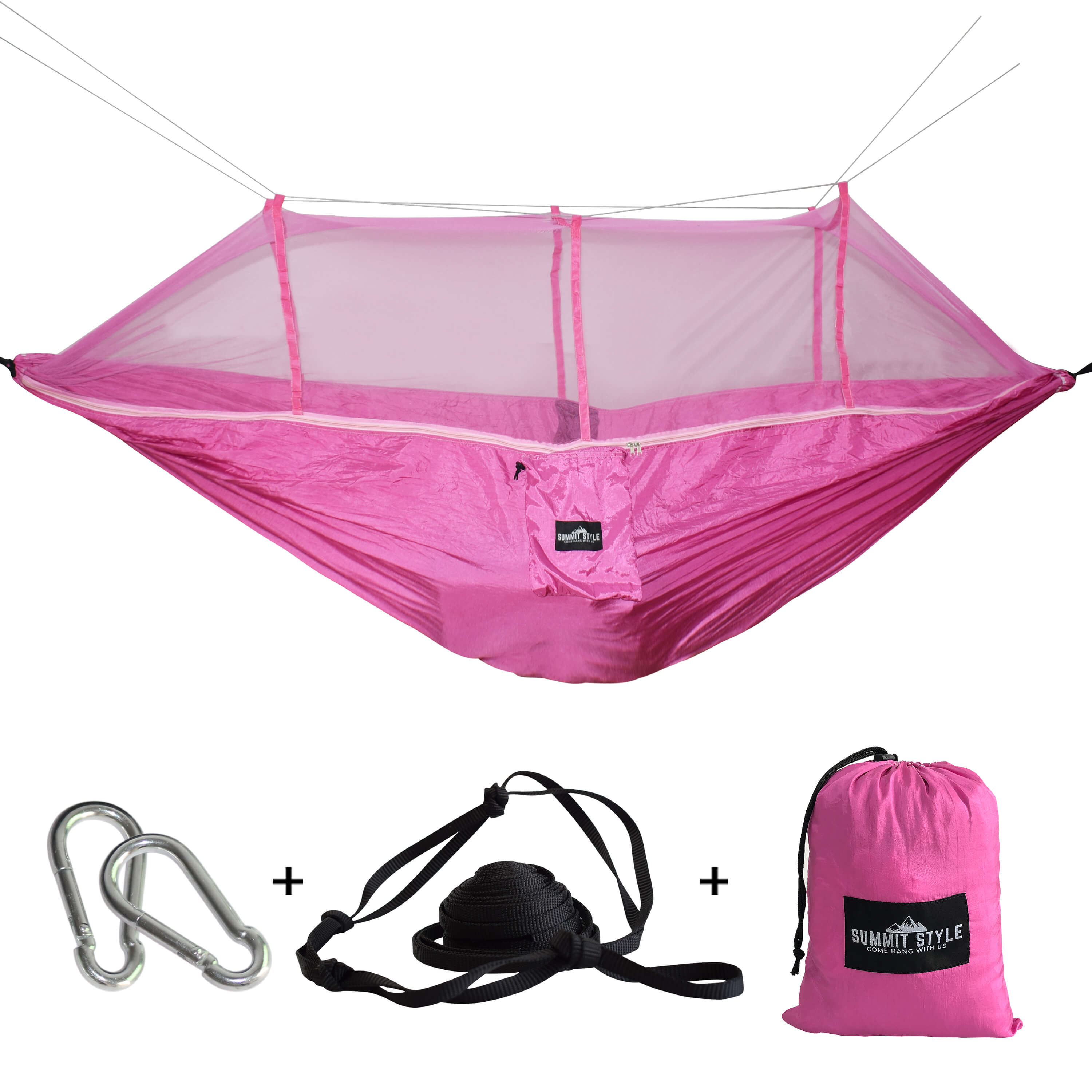 Summit Style's Nature Nest Hammock with Mosquito Net: Pink