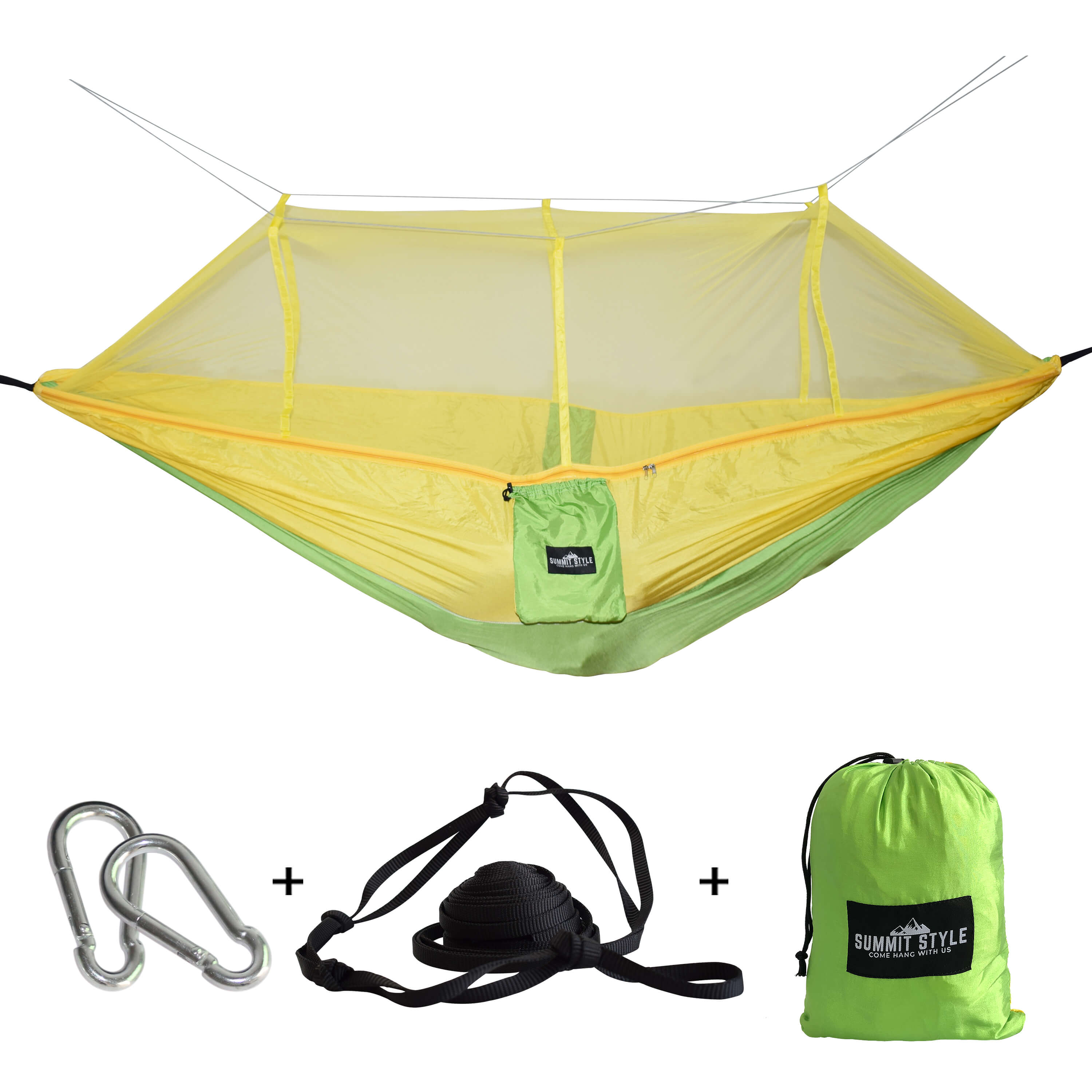 Summit Style's Nature Nest Hammock with Mosquito Net: Yellow