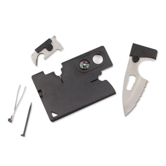 12-in-1 SwissCard Credit Card Sized Multi-Tool
