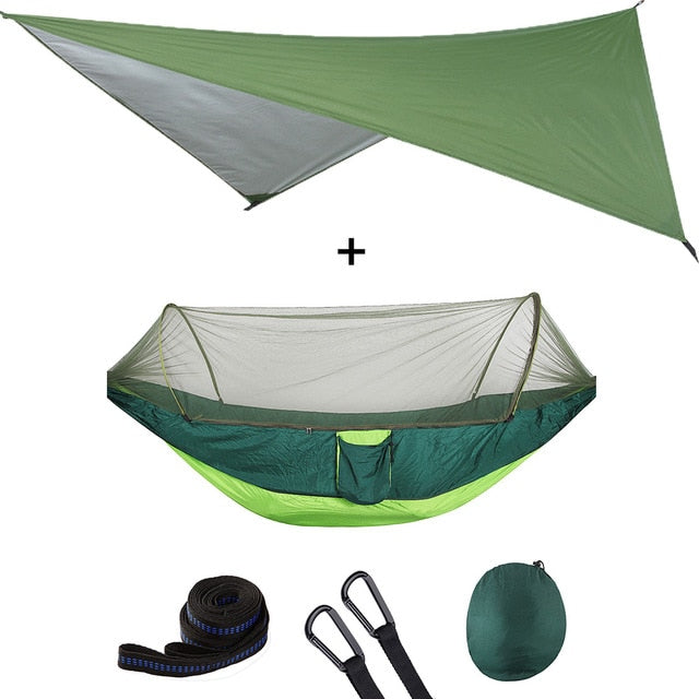 Summit Style 3 in 1 Nature Mosquito Net Hammock with Canopy: Green