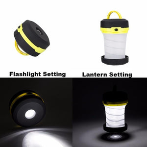 Ultralight Retractable LED Lantern with Flashlight