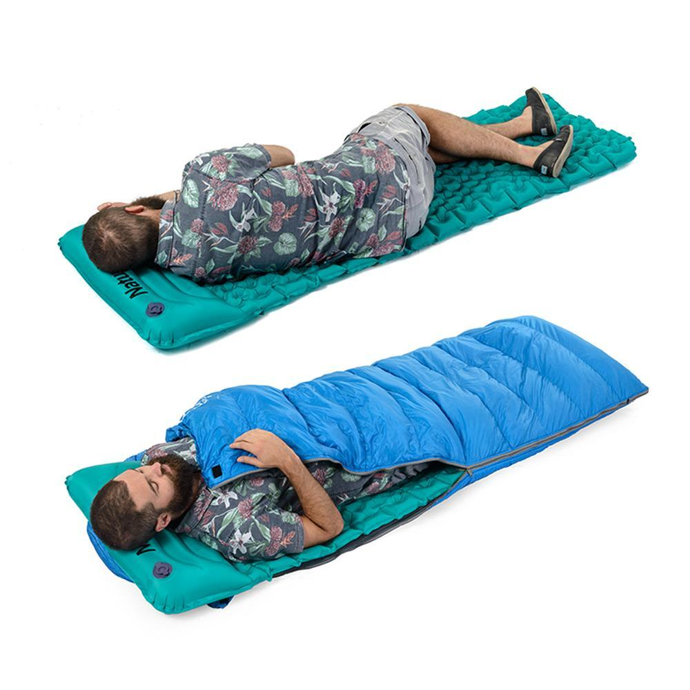 Ultralight Portable Self-Inflating Mattress With Pillow