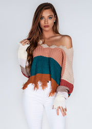 Ella Tattered Sweater