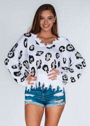 Queen of Leopard Distressed Sweater