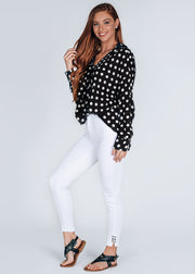 Adeline Polka Dot Top