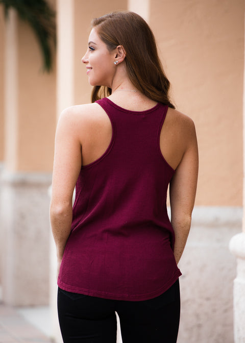 Perfect Flow Tank- Burgundy