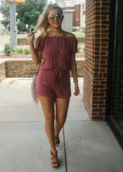 Weekend Romper- Mauve