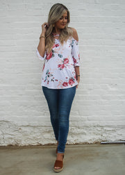 Floral Fusion Top- White