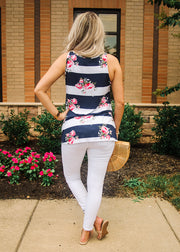 Floral Sailor Top