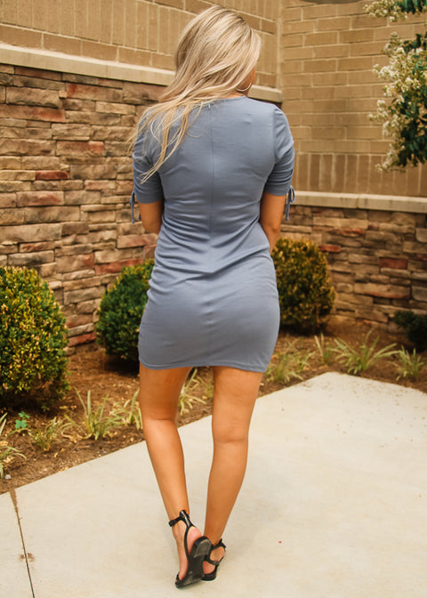 Blue Cinch Dress