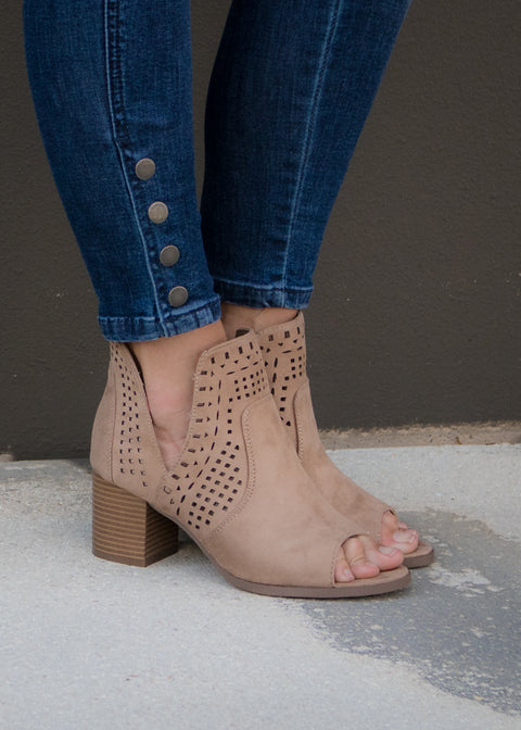 Carmen Peep Toe Booties