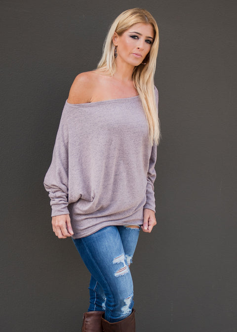 """Cozy Days"" Sweater Top- Blush"