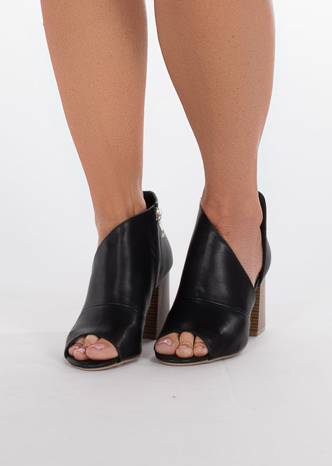 Angelina Booties- Black