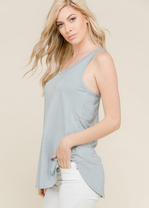 Day Trip Racerback Top- Dusty Mint