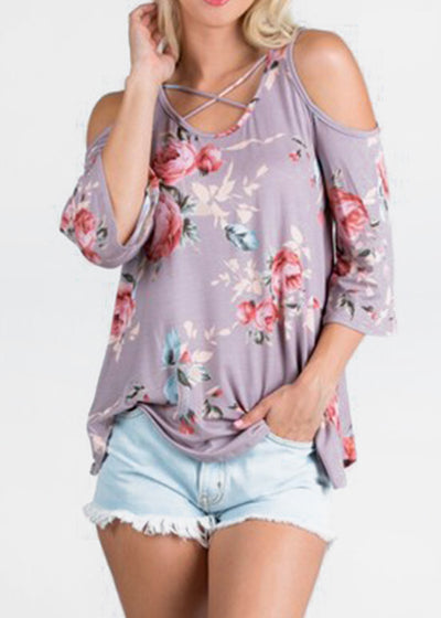 Floral Fusion Top- Ivory