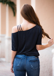 """Shayla"" Cold Shoulder Top"