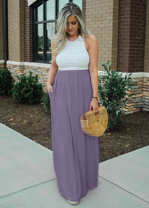 """Sweetheart""  Maxi Dress- Lavender"