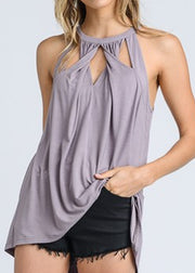 """Twist and Turn"" Top- Purple"