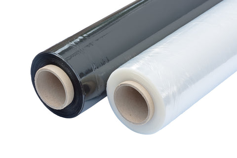 Stretch Wrapping Films in Black and Clear Colours