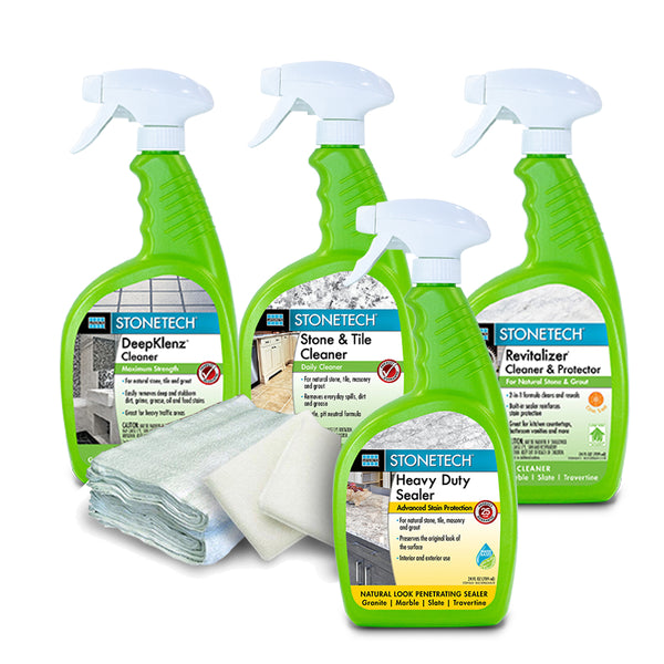 Natural Stone Countertop Sealer (Spray Water Based Version)  Clean, Seal & Maintain Kit