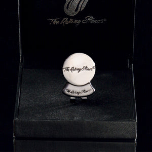 The Rolling Stones Golf Goods (Official Licks Logo) - Magnetic Hat Clip with Ball Marker - Antique Silver