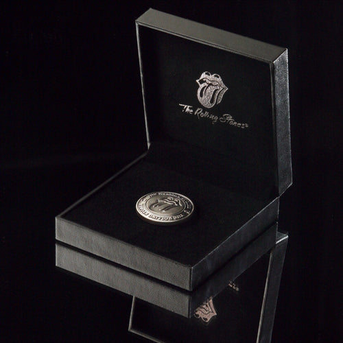 The Rolling Stones Golf Goods (Official Licks Logo) - Medallion Ball Marker - Antique Silver