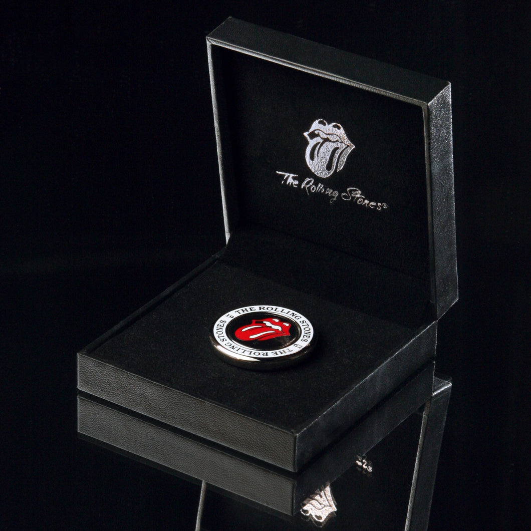 The Rolling Stones Golf Goods (Official Licks Logo) - Reversible Ball Marker with Medallion Holder - Silver