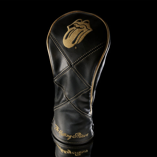 The Rolling Stones Golf Goods (Official Licks Logo) - Fairway Wood Cover - Black x Gold