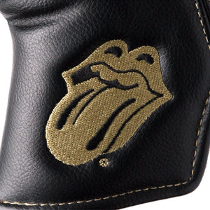 The Rolling Stones Golf Goods (Official Licks Logo) - Blade Putter Cover - Black x Gold